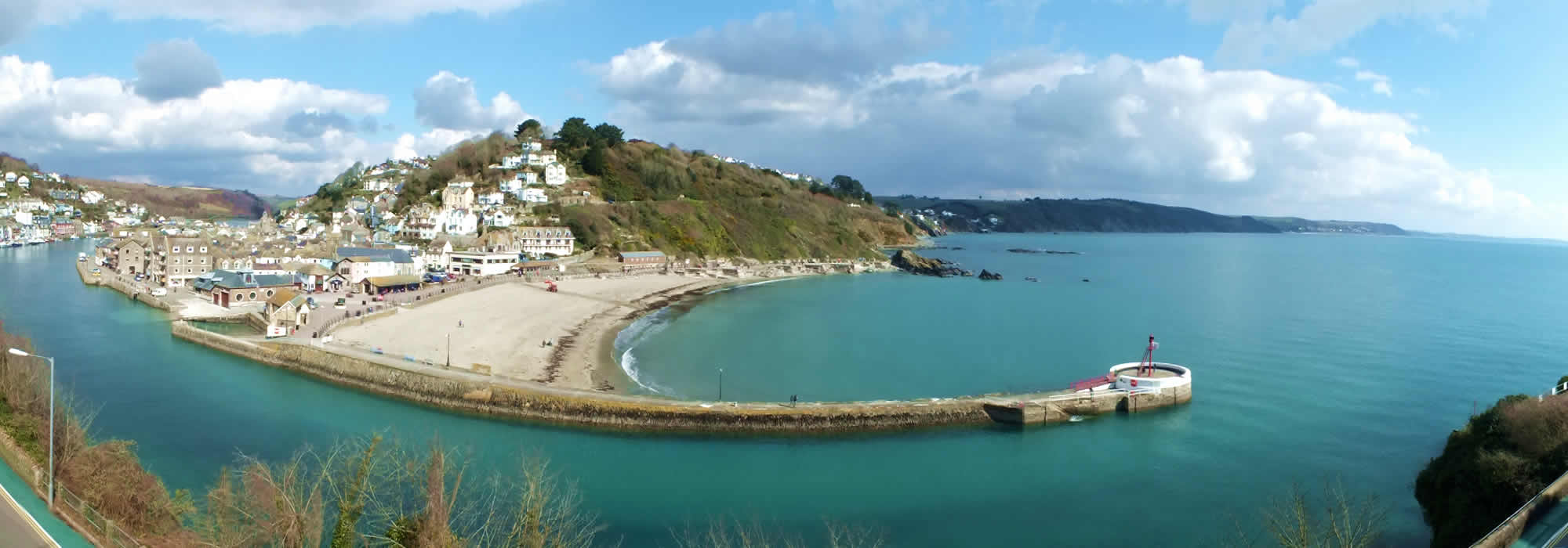 Sea views from the Watermark in Looe, Cornwall
